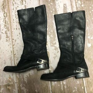 UGG Channing II Riding Boots Leather Stirrup 8